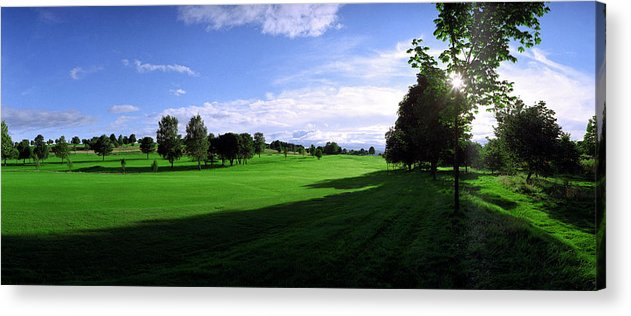 Stirling Acrylic Print featuring the photograph Stirling Golf Club Fairway by Jan W Faul