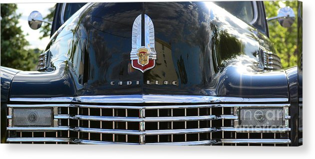 1941 Cadillac Acrylic Print featuring the photograph 1941 Cadillac Grill by Paul Ward
