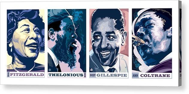 Dizzy Gillespie Acrylic Print featuring the painting Jazz Portrait Series Part 1 by Garth Glazier