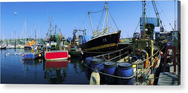 Barrell Acrylic Print featuring the photograph Kinsale, Co Cork, Ireland Fishing Boats by The Irish Image Collection