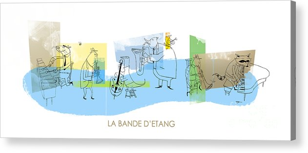 Music Acrylic Print featuring the digital art La Bande D'etang by Sean Hagan