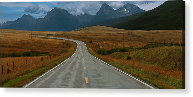 Montana Acrylic Print featuring the photograph Montana Highway by Tom Reed
