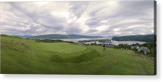 Golf Acrylic Print featuring the photograph Tobermory Golf Club 3rd by Jan W Faul