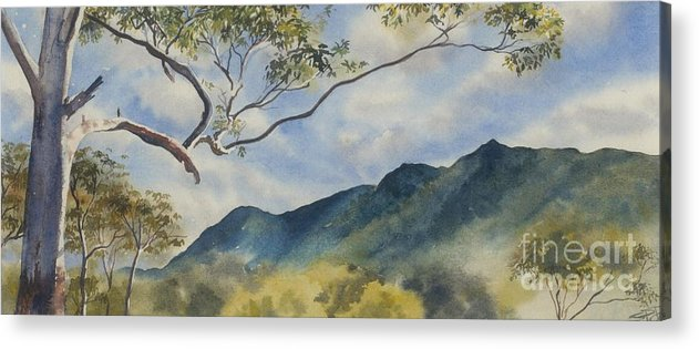 Mountain Landscape Acrylic Print featuring the painting Mc Graths Hump Nsw by Sandra Phryce-Jones