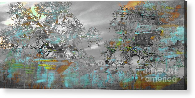 Painting Acrylic Print featuring the painting Abstract Tree Art 1 by Gull G