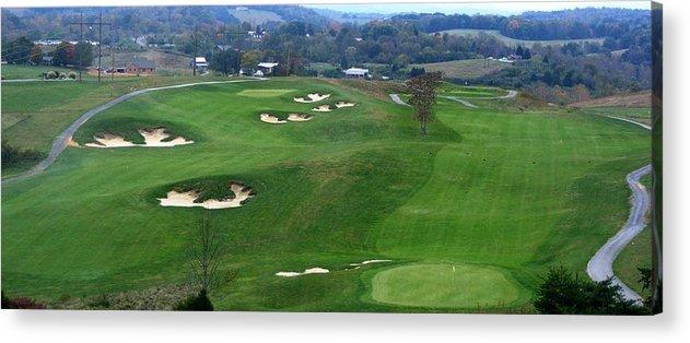Virginia Acrylic Print featuring the photograph Buena Vista Golf Course by Eddie Armstrong