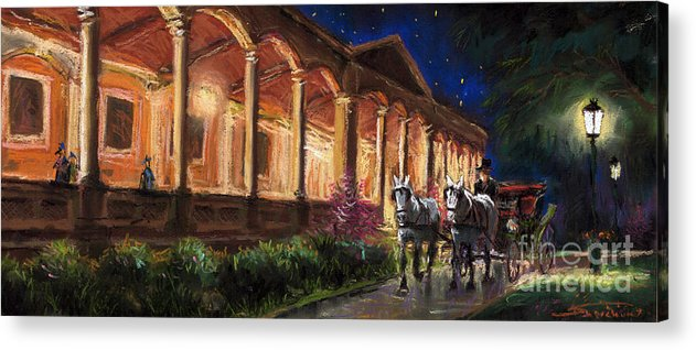 Pastel Acrylic Print featuring the painting Germany Baden-baden 13 by Yuriy Shevchuk