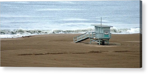 Beach Acrylic Print featuring the photograph Life Guard Stand - Color by Shari Chavira