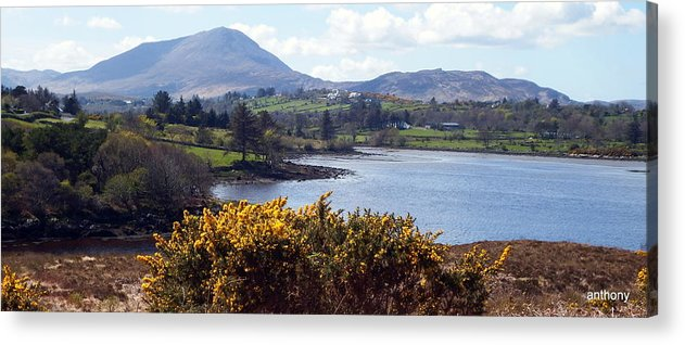 Irish Acrylic Print featuring the photograph Muckish ,irish Landscape by Anthony Gallagher