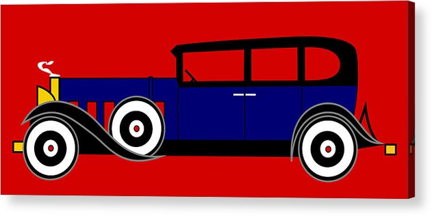 Al Capone Acrylic Print featuring the digital art The Al Capone Cadillac V16 From 1930 by Asbjorn Lonvig