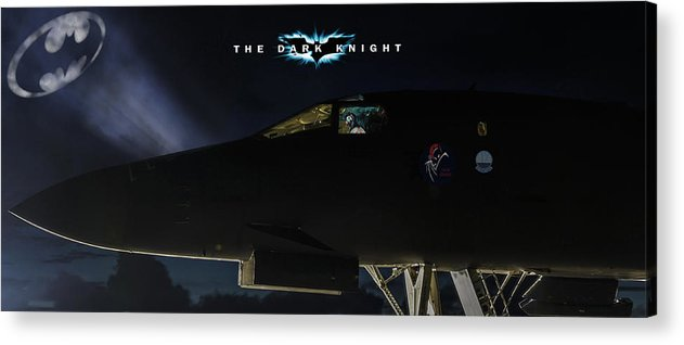 Aviation Acrylic Print featuring the digital art The Dark Knight 2 by Peter Chilelli