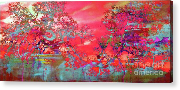 Painting Acrylic Print featuring the painting Trees 67 by Gull G