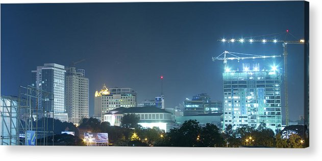 Insogna Acrylic Print featuring the photograph Up Town Cebu City Lights by James BO Insogna