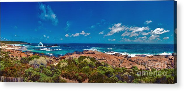 Boodjidup Beach Acrylic Print featuring the photograph Western Australia Beach Panorama by David Zanzinger