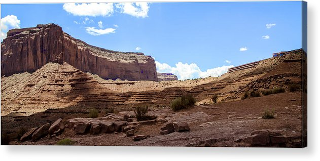 Landscape Acrylic Print featuring the photograph The View Hotel - Monument Valley - Arizona by Jon Berghoff