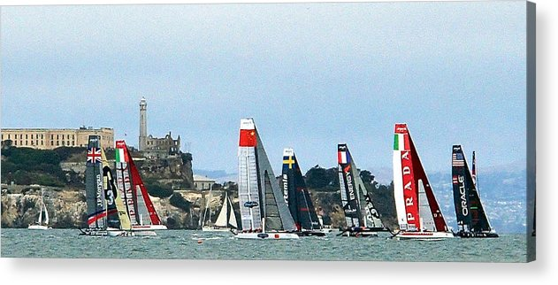 America's Cup Acrylic Print featuring the photograph America's Cup World Series by Robin Stout