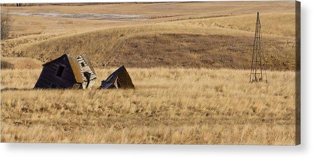 North Dakota Acrylic Print featuring the photograph Farmstead by Wayne Vedvig