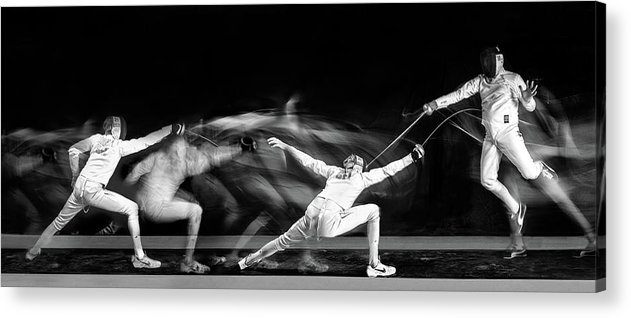 Fencing Acrylic Print featuring the photograph Fencing #1 by Hilde Ghesquiere