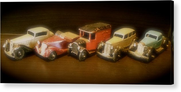 Toy Acrylic Print featuring the photograph Five Toys From The Forties by John Colley