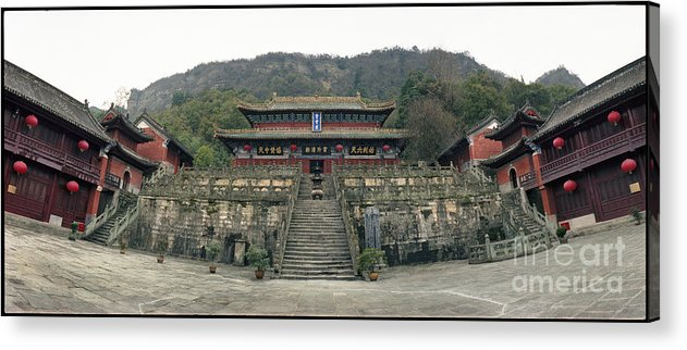 C031301n Acrylic Print featuring the photograph Wudangshan - Zhishaodian by Ty Lee