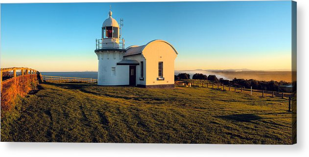 Sunset Acrylic Print featuring the photograph Crowdy Head Lighthouse by Karl Bayer