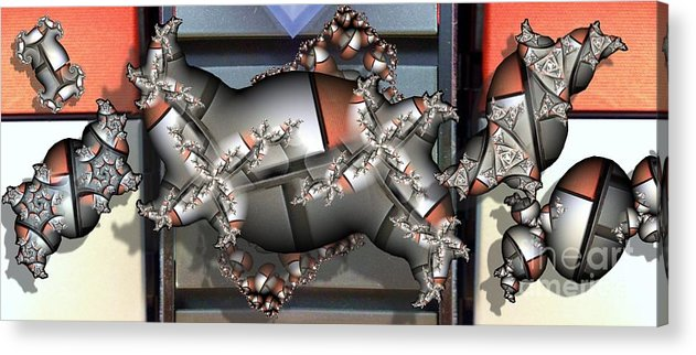 Abstract Acrylic Print featuring the digital art Mandelbrot Meets Mondrian by Ron Bissett