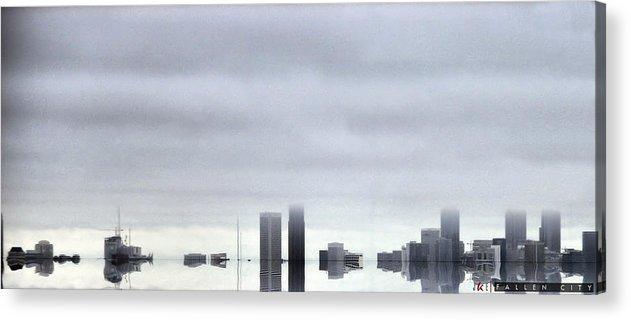 Fallen City Acrylic Print featuring the photograph Fallen City by Jonathan Ellis Keys