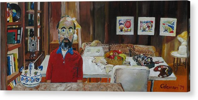 Self Portrait Acrylic Print featuring the painting Still Life by Gary Coleman