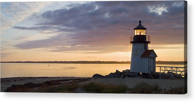 Nantucket Acrylic Print featuring the photograph Brant Point Dawn - Nantucket by Henry Krauzyk