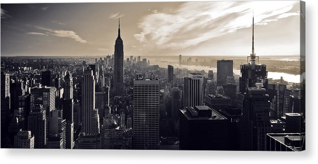 New York Acrylic Print featuring the photograph New York by Dave Bowman