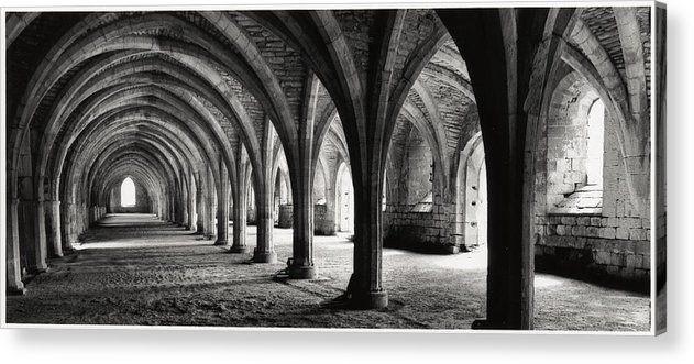 Fountains Abbey Acrylic Print featuring the photograph Stone Arches by Michael Hudson