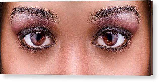 Eyes Acrylic Print featuring the photograph Stunning Eyes by Val Black Russian Tourchin