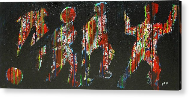 Abstract Acrylic Print featuring the painting The Finish Line by Paul Freidin