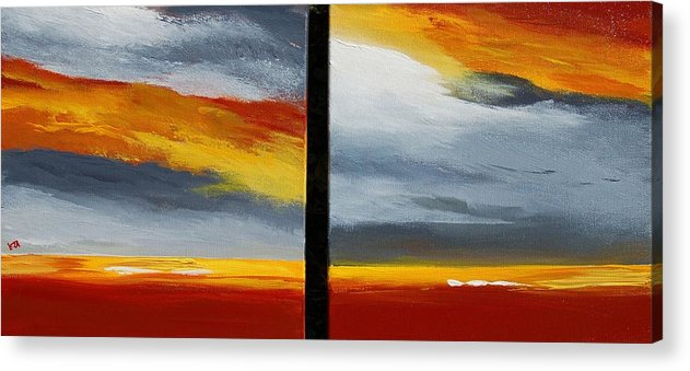 Abstract Acrylic Print featuring the painting Abstract Landscape 17 by Veronique Radelet