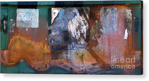 Dumpster Acrylic Print featuring the photograph Dumpster On University Avenue by Warren Sarle