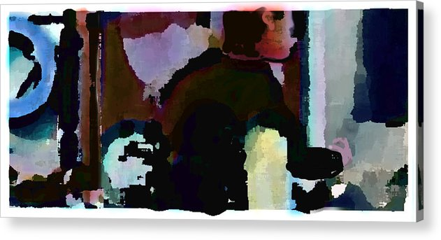 Abstract Expressionism Acrylic Print featuring the painting Lunch Counter by Steve Karol