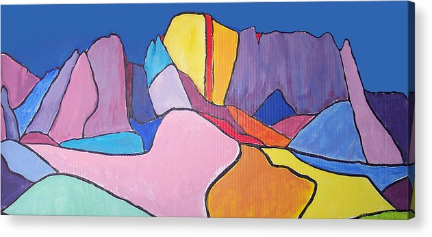 Landscape Acrylic Print featuring the painting Catalina Fugue by Mordecai Colodner