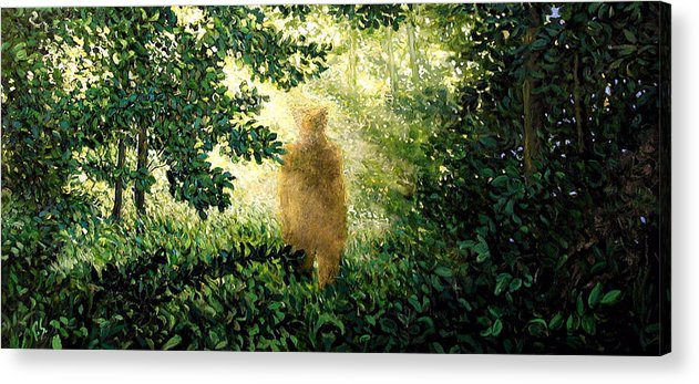 Landscape Acrylic Print featuring the painting Encounter by Paul Sierra