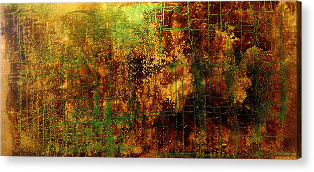 Original Abstract Acrylic Print featuring the painting When You Wish Upon A Star by Hengameh Kaghazchi