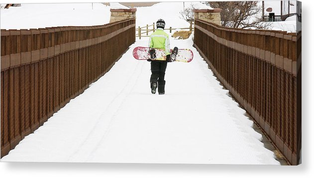 Snow Acrylic Print featuring the photograph Finished Riding by Paul Conrad