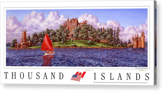 Thousand Islands Acrylic Print featuring the print Boldt's Castle Poster by Richard De Wolfe