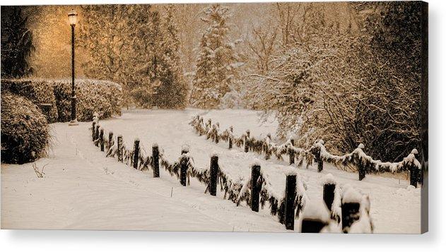 Snow Acrylic Print featuring the photograph Northern Light by Robert Arthur