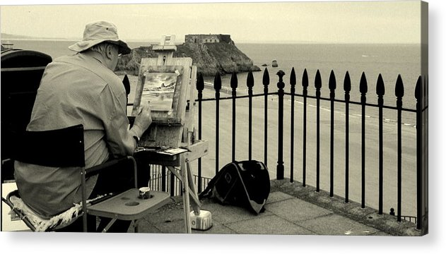 Life Acrylic Print featuring the photograph The Artists Rendering Of Me by Stevie Smudge