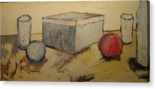 Acrylic Print featuring the painting Composizione by Biagio Civale