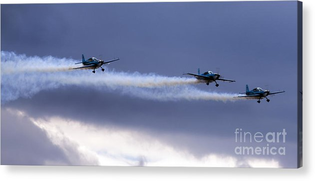 Airshow Acrylic Print featuring the photograph Blades by Angel Ciesniarska
