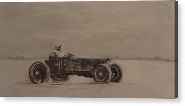Racing Acrylic Print featuring the drawing Bonniville by John C