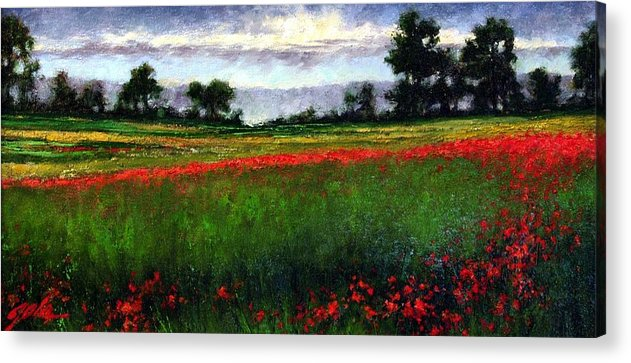 Landscape Acrylic Print featuring the painting Colorburst by Jim Gola
