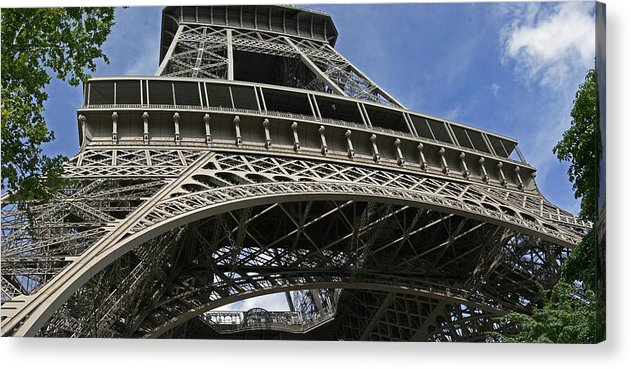 Eiffel Tower Photographs Acrylic Print featuring the photograph Eiffel Tower First Balcony by Gary Lobdell