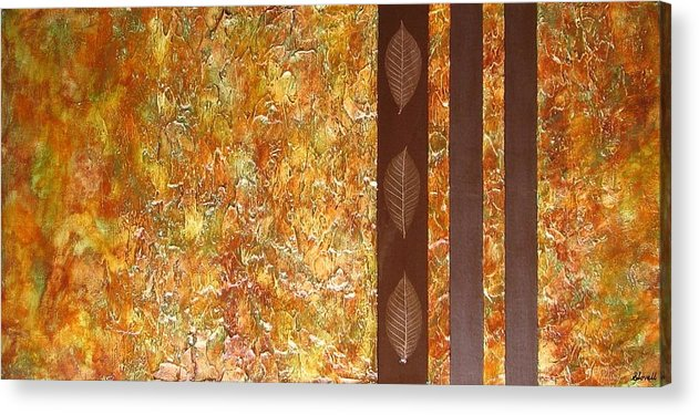 Texture Acrylic Print featuring the painting Autumn Harvest by Sophia Elise
