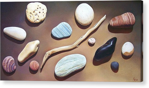 Still Life Acrylic Print featuring the painting Balance by Elena Kolotusha